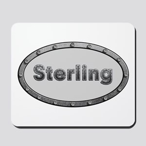 Sterling Metal Oval Mousepad