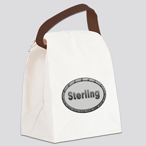 Sterling Metal Oval Canvas Lunch Bag
