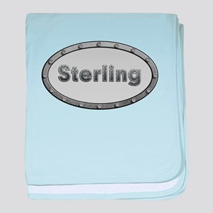 Sterling Metal Oval baby blanket
