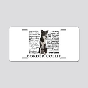 Border Collie Traits Aluminum License Plate
