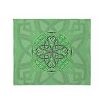 Celtic Clover Mandala Throw Blanket