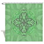 Celtic Clover Mandala Shower Curtain