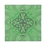 Celtic Clover Mandala Queen Duvet