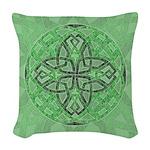 Celtic Clover Mandala Woven Throw Pillow