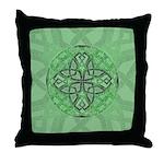 Celtic Clover Mandala Throw Pillow