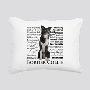Border Collie Traits Rectangular Canvas Pillow