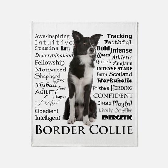 Border Collie Traits Throw Blanket