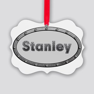 Stanley Metal Oval Ornament
