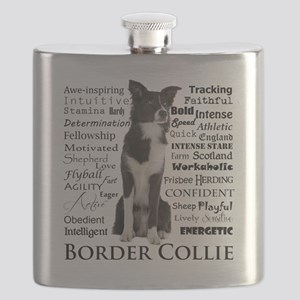 Border Collie Traits Flask