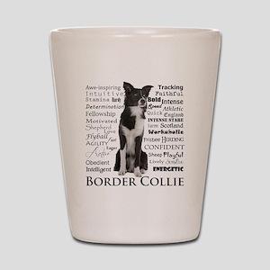 Border Collie Traits Shot Glass