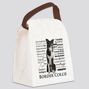 Border Collie Traits Canvas Lunch Bag