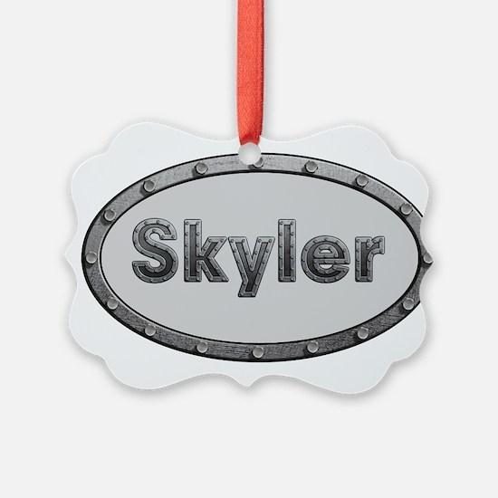 Skyler Metal Oval Ornament