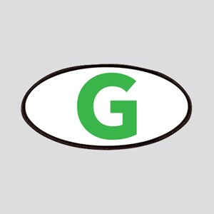 Letter G Green Patches
