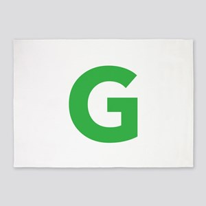 Letter G Green 5'x7'Area Rug