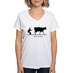 Ski Iowa Women's V-Neck T-Shirt