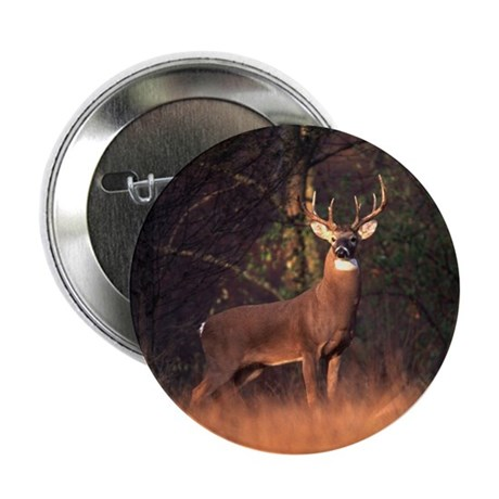 Whitetail Deer Button