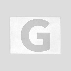 Letter G Light Gray 5'x7'Area Rug
