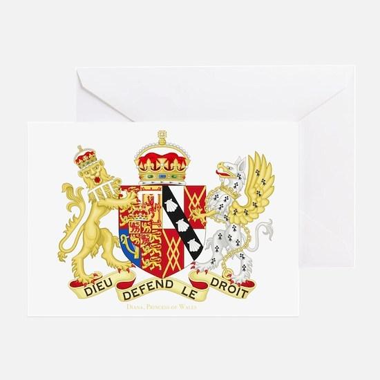 Diana, Princess of Wales Coat of Arms Greeting Car