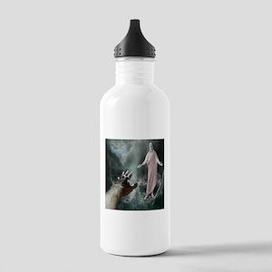 Jesus Walks On The Water Water Bottle