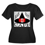 Black Hat Cafe Women's Plus Size Scoop Neck Dark T