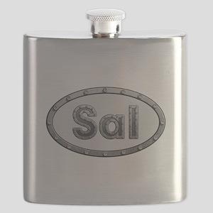 Sal Metal Oval Flask