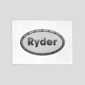 Ryder Metal Oval 5'x7'Area Rug