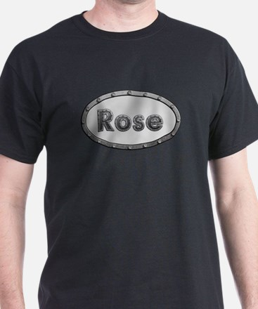 Rose Metal Oval T-Shirt