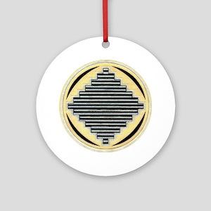MIMBRES PYRAMIDS BOWL DESIGN Ornament (Round)