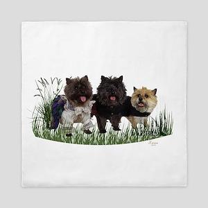 Kilted Cairn Terriers Queen Duvet