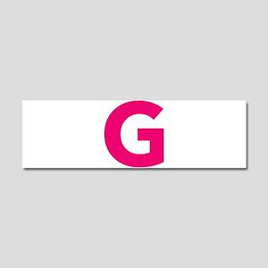 Letter G Pink Car Magnet 10 x 3