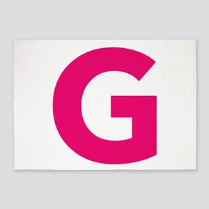 Letter G Pink 5'x7'Area Rug