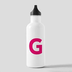 Typo water bottles cafepress letter g pink water bottle altavistaventures Gallery