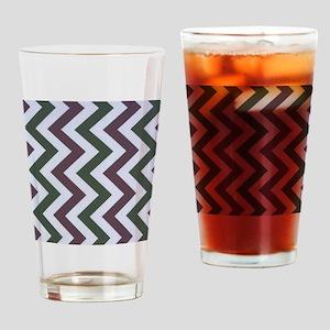 Dark Purple and Evergreen Jags Drinking Glass