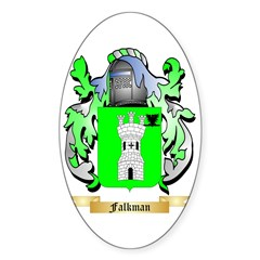 Falkman Sticker (Oval 10 pk)