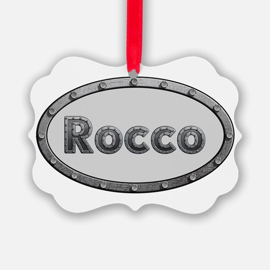 Rocco Metal Oval Ornament