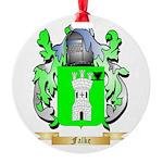 Falke Round Ornament