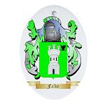 Falke Ornament (Oval)