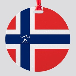 Team Cross Country Norway Round Ornament