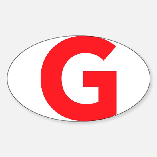 Letter G Red Decal