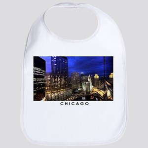 Chicago Cityscape Cotton Baby Bib