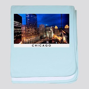 Chicago Cityscape baby blanket