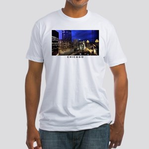 Chicago Cityscape Fitted T-Shirt