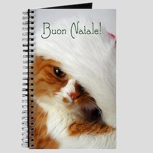 Italian Greeting Santa Cat Journal