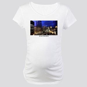 Chicago Cityscape Maternity T-Shirt