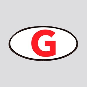 Letter G Red Patches
