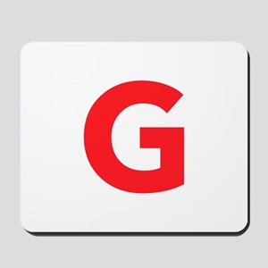 Letter G Red Mousepad