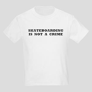 Skateboarding is not a crime Kids Light T-Shirt