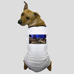 Chicago Cityscape Dog T-Shirt