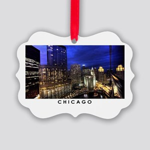 Chicago Cityscape Picture Ornament