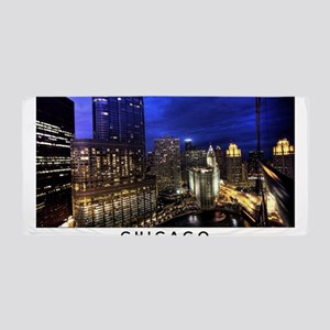 Chicago Cityscape Beach Towel